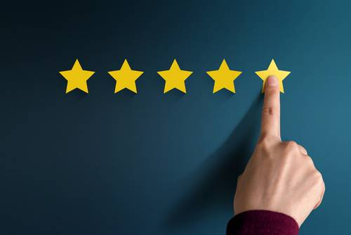 Customer Experience Concept_ Best Excellent Services Rating for Satisfac