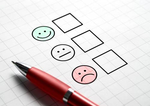 Customer satisfaction survey and questionnaire concept. Giving feedback