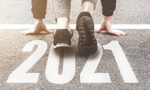 Sneakers close-up_ finish 2020. Start to new year 2021 plans_ goals_ obj